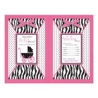 Zebra Print & Baby Carriage Popcorn Wrapper Flyer