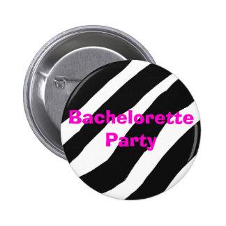 Zebra Print Bachelorette Party button
