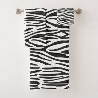 Zebra Print Bathroom Towel Set
