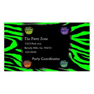 Zebra Print & Birthday Cakes Pack Of Standard Business Cards