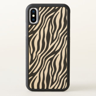 Zebra Print Black And White Stripes iPhone X Case