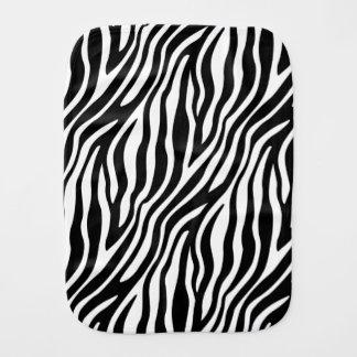 Zebra Print Black And White Stripes Pattern Baby Burp Cloth
