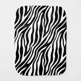 Zebra Print Black And White Stripes Pattern Burp Cloth