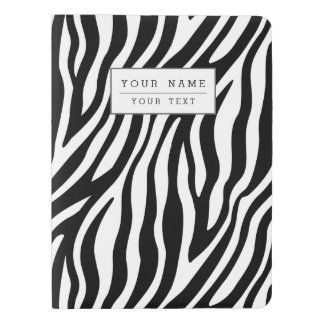 Zebra Print Black And White Stripes Pattern Extra Large Moleskine Notebook