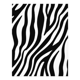 Zebra Print Black And White Stripes Pattern Flyer