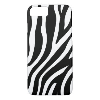 Zebra Print Black And White Stripes Pattern iPhone 8/7 Case