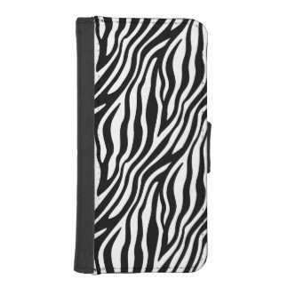 Zebra Print Black And White Stripes Pattern iPhone SE/5/5s Wallet Case