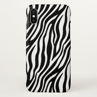 Zebra Print Black And White Stripes Pattern iPhone X Case