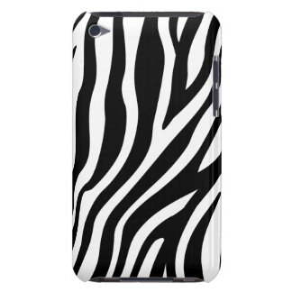 Zebra Print Black And White Stripes Pattern iPod Case-Mate Cases