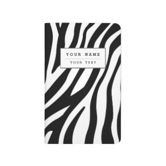 Zebra Print Black And White Stripes Pattern Journal