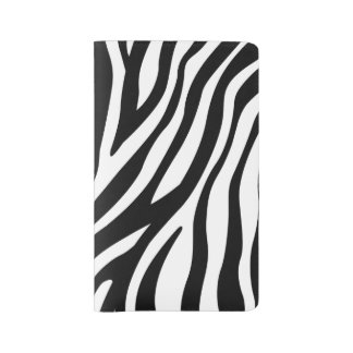 Zebra Print Black And White Stripes Pattern Large Moleskine Notebook