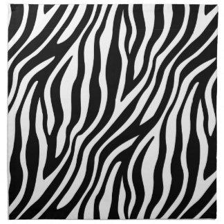 Zebra Print Black And White Stripes Pattern Napkin