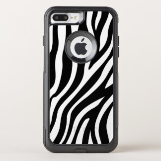 Zebra Print Black And White Stripes Pattern OtterBox Commuter iPhone 8 Plus/7 Plus Case