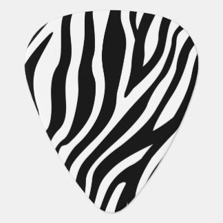 Zebra Print Black And White Stripes Pattern Plectrum
