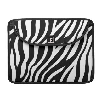 Zebra Print Black And White Stripes Pattern Sleeve For MacBooks