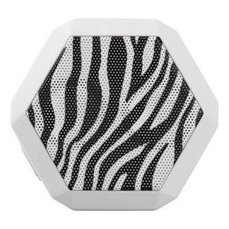 Zebra Print Black And White Stripes Pattern White Bluetooth Speaker