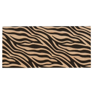 Zebra Print Black And White Stripes Pattern Wood USB Flash Drive