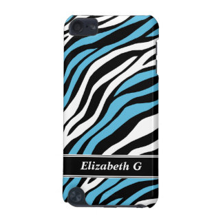 Zebra Print Blue Mix iPod Touch 5G Case
