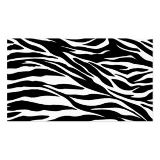 zebra print Double-Sided standard business cards (Pack of 100)