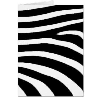 Zebra Print Card