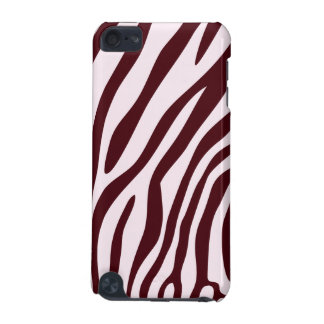 Zebra Print Case, red iPod Touch 5G Case