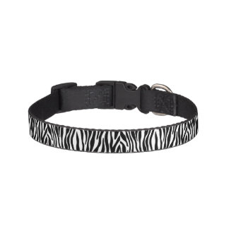 Zebra Print Design Pet Collar