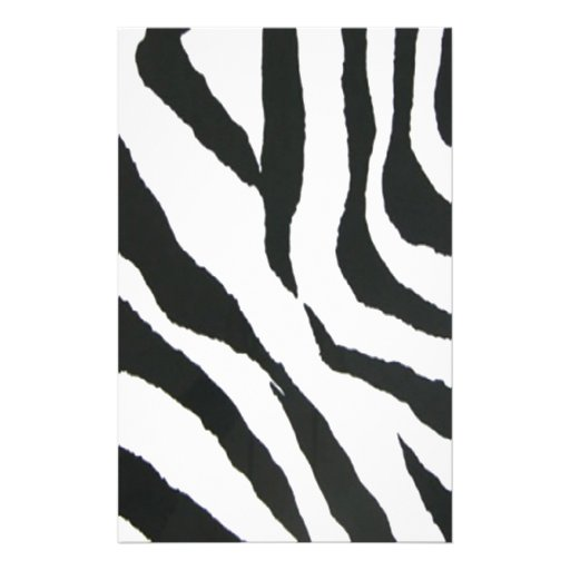 zebra print design stationery design