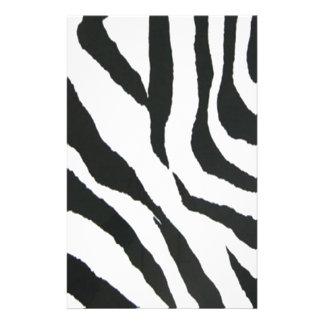 zebra print design stationery design