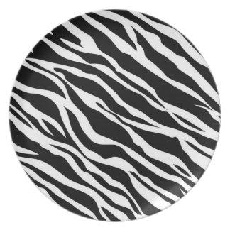 Zebra Print Dinner Plate