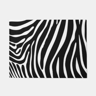 Zebra Print Door Mat