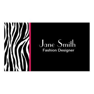 Zebra Print Fashion Designer Hair Stylist Salon Pack Of Standard Business Cards