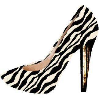 Zebra Print Fashion Shoe 3D Acrylic Ornament Photo Sculpture Decoration
