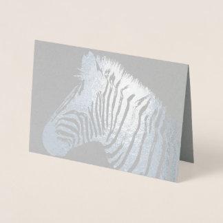 Zebra print foil card