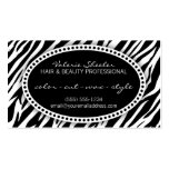 Zebra Print Hair & Beauty Appointment Card