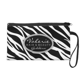Zebra Print Hair Salon or Stylist (Custom) Bag Wristlet