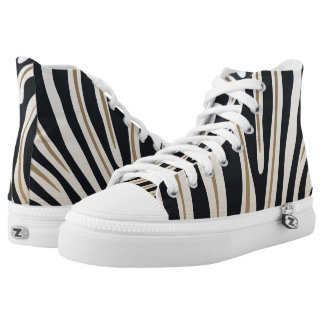 Zebra Print High Top Shoes Printed Shoes