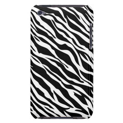 Zebra print iPod case Barely There iPod Case