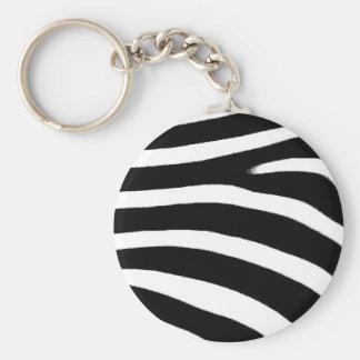 Zebra Print Key Ring