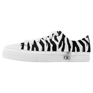 Zebra Print Low Top Sneakers for Women