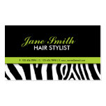 Zebra Print Modern Elegant Green Stylish Business Card Templates