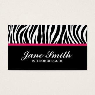 Zebra Print Modern Elegant Stylish Classy Business Card