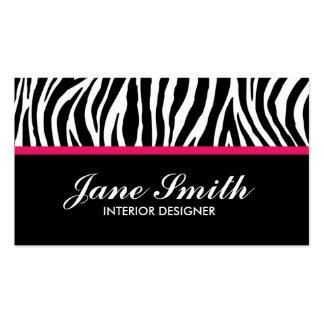Zebra Print Modern Elegant Stylish Classy Pack Of Standard Business Cards