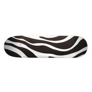 Zebra Print New Cool Black & White Animal Print Skate Deck