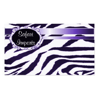 Zebra print pack of standard business cards