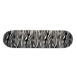 Zebra Print Pattern - Black and White 18.1 Cm Old School Skateboard Deck
