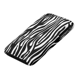 Zebra Print Pattern - Black and White iPhone 3 Covers
