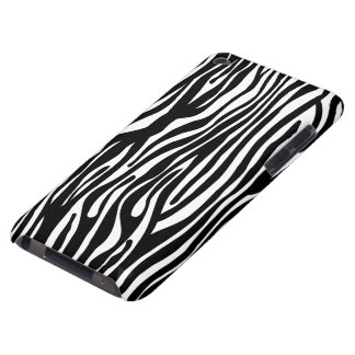 Zebra Print Pattern - Black and White iPod Touch Cases