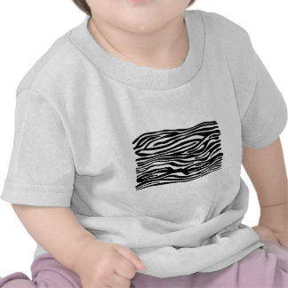 Zebra Print Pattern - Black and White Tees