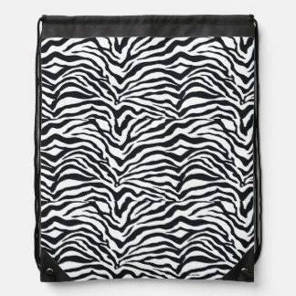 Zebra Print Pattern Drawstring Backpack