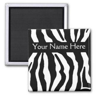 Zebra Print Personalized Name Magnet